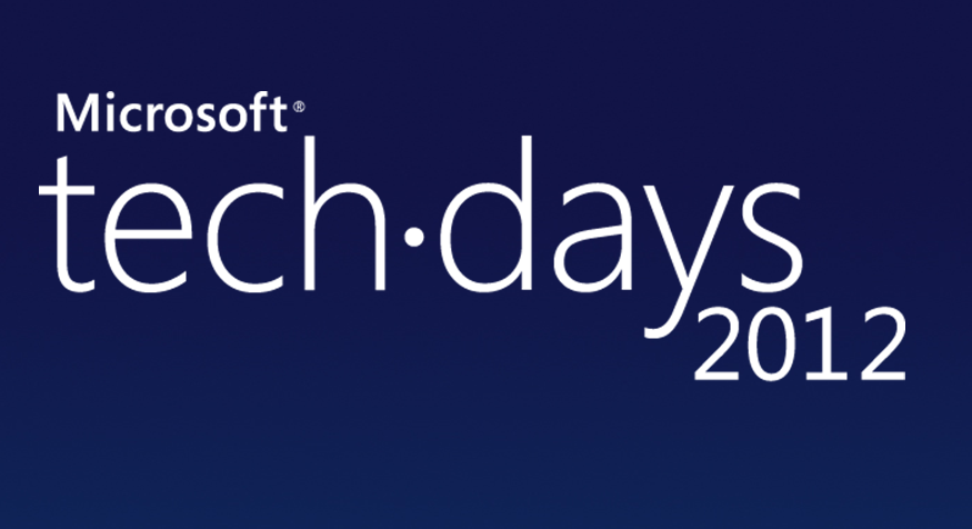 Techdays 2012 – 2 sessions