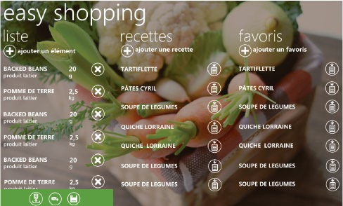 Easy Shopping – Une application Windows Phone 7